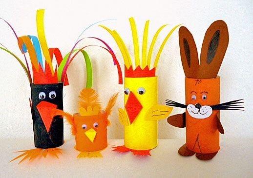 Kinder basteln für Ostern