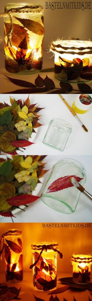 Herbst Kinder windlicht