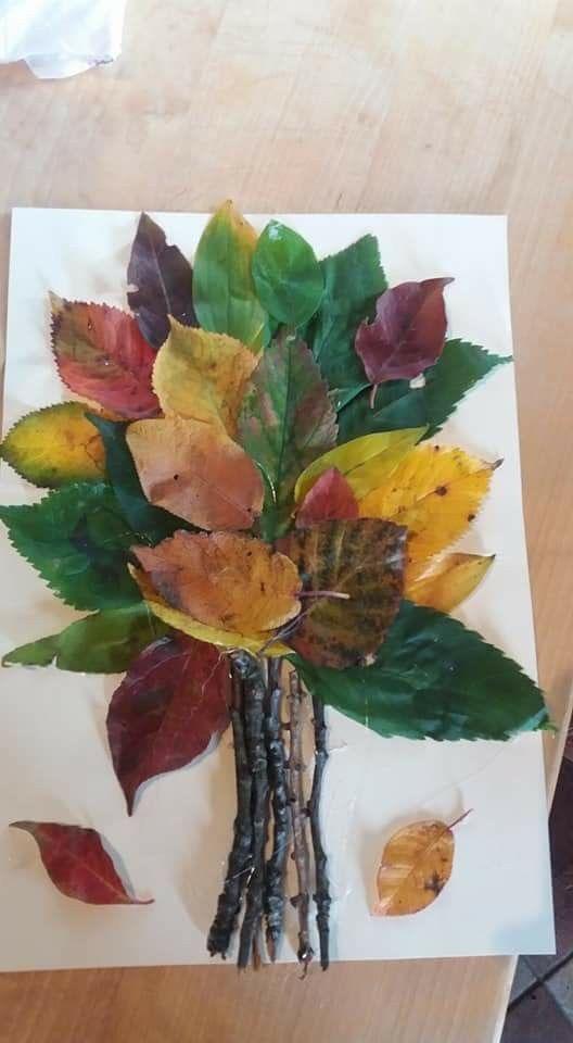 Kleinkinder basteln Blätter