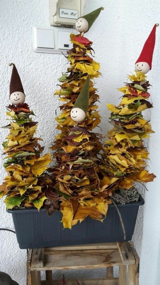 Gestalten mit Blätter kinder