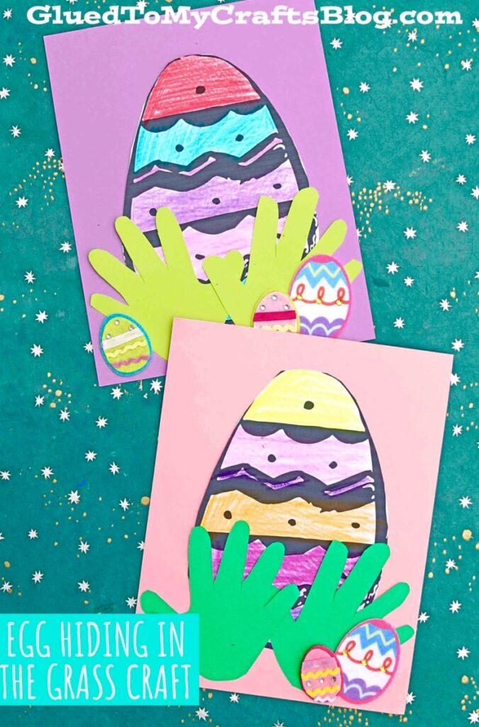 Handabdruck Ostern Kindergartenkinder